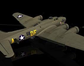 3D model Boeing B17 G Flying Fortress Memphis Belle