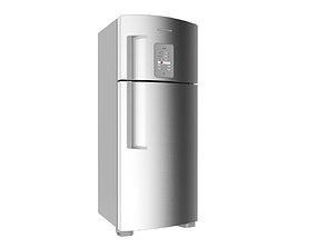 Refrigerator Brastemp Ative Stainless Steal 3D