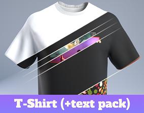 T-Shirt 3D model low-poly fold