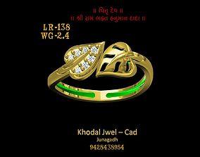 various fashion-ring 3D asset low-poly ladies ring