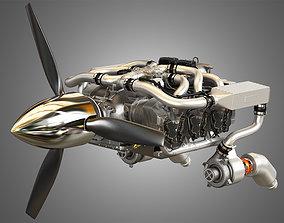 Continental IO 550 Engine 3D