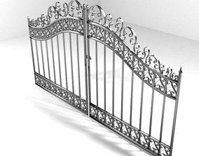 Steel Door Gate Type 3 3D model