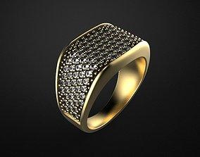 3D printable model jewelry gem men ring