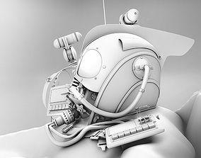 3D model MASK Helmet and Bag