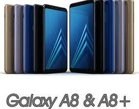 Samsung Galaxy A8 and A8 Plus 2018 All 3D asset