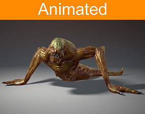 3D model animated Creature Creepy