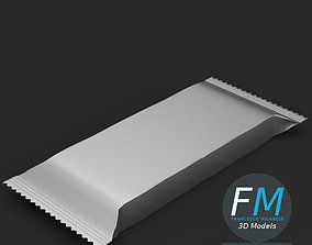 Candy bar package 3D model