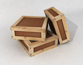 Stacked wooden crates for warehouse low 3D model