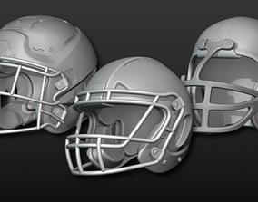 Printable Football Helmets 3D model