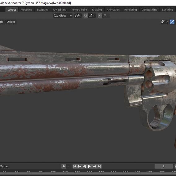 4K textured Colt Python .357 mag Revolver