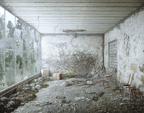 3D asset game-ready Chernobyl Abandoned Room