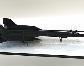 3D asset animated Lockheed SR-71 Blackbird