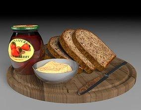 3D bread plate