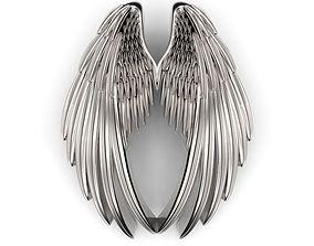 3D print model 20mm Double Wings Pendant