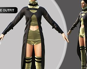 3D woman Female Fantasy Outfit VII Marvelous Designer