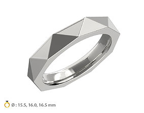3D print model N118 Geometric style wedding ring