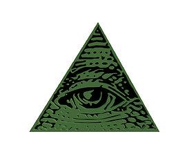 symbol 3D print model Eye of Providence