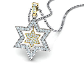 3D printable model Diamond Jewish Star pendant Star of 1