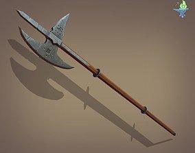 3D model Poleaxe Halberd