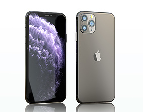 3D Iphone 11 pro max space gray