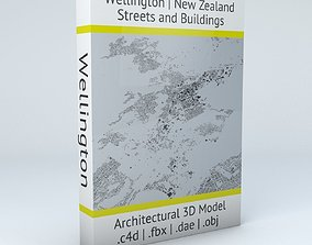 3D model Wellington Streets and Buildings squares