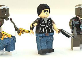 3D Lego Robbers mini Pack three