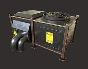 air conditioning prt1 low-poly 3D model rigged