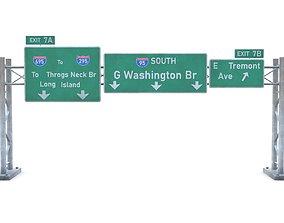 3D model Highway Sign 04