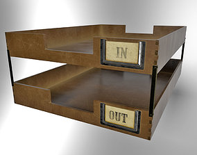 In-out Trays Old Fashioned 3D