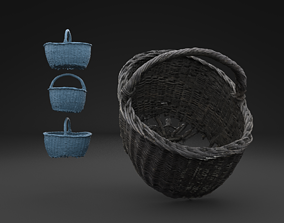 3D Scanned Old Basket HIGH POLY