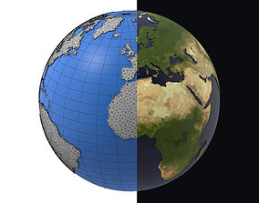 Earth detailed design graphic cartoon 3D model