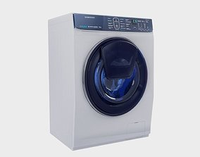3D asset low poly washing machine