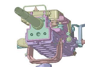 3D model hk grenade machine gun