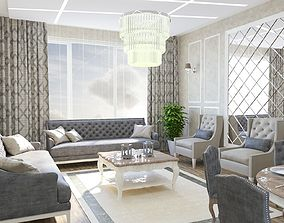coronarender Corona Living Room 3D model