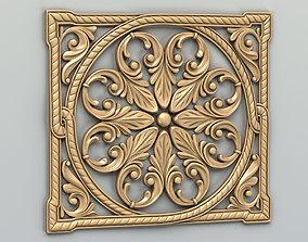 Carved decor central 018 3D