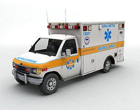 3D model Ambulance Metro