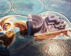 3D print model Cyclades board game custom made buildings