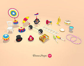 Circus Props 3D asset animated
