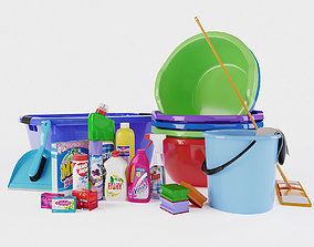 Household chemicals and tools 3D