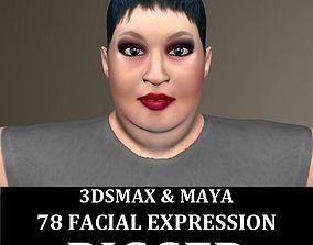3D model Rigged Fat Woman