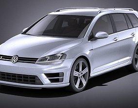 Volkswagen Golf VII R Variant 2015 VRAY 3D