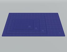 3D Set of cutting mats A1 A2 A3 A4