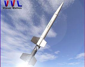 Aerobee 100 Rocket 3D model