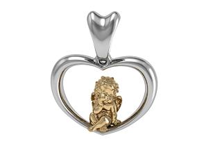 valentine 3D print model pendant angel