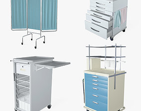 3D model Medical Supply Cart 3 in 1