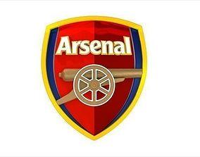Arsenal logo 3D model