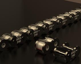 3D print model STANDARD ROLLER CHAIN - ANSI 240
