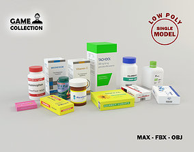 Medicines 1 Lowpoly 3D asset