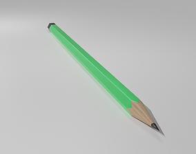 Green Pencil 3D asset