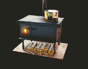 Gameready furnace 3D asset